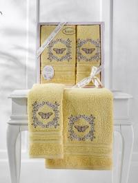 Набор махровых полотенец Karna Maria желтый