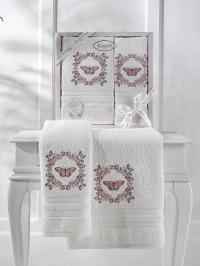Набор махровых полотенец Karna Maria кремовый