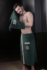 Мужской набор для сауны Karna Koral, темно-зеленый