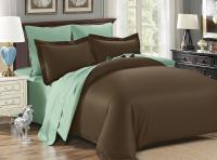 Постельное белье Karna Sanford, коричневый-зеленый