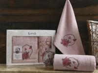 полотенец Karna Demet, грязно-розовый