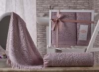 полотенец Karna Esra, грязно-розовый