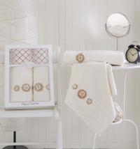полотенец Karna Elegance, кремовый