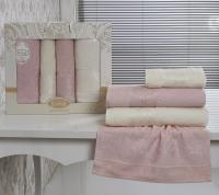 полотенец Karna Dora, светло-розовый и кремовый арт. 2153/char006