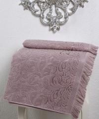 Полотенце Karna Esra 70х140 см, грязно-розовое