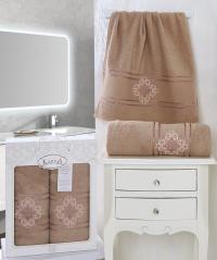 полотенец Karna Seher, грязно-розовый арт. 2350/char002