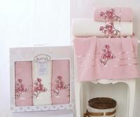 полотенец Karna Papilon, светло-розовый арт. 2354/char005