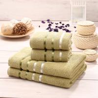 Набор махровых полотенец Karna Bale зеленый