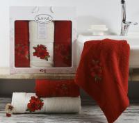 полотенец Karna Orkide, бордовый арт. 2361/char002
