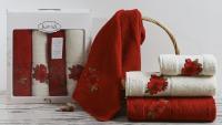 полотенец Karna Orkide, бордовый арт. 2362/char002