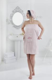 Набор для сауны Karna Pera, розовый