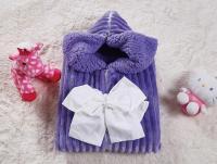 Плед-конверт KAZANOV.A. Infanty с капюшоном, синий