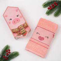 Полотенце Этель Поросенок, розовое