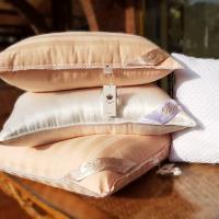 Шелковая подушка Kingsilk Premium 70х70, персиковый