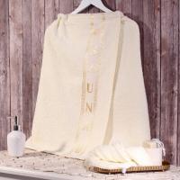 Набор для сауны Dome Harmonika с вышивкой 70х140 см, молочный