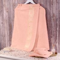 Набор для сауны Dome Harmonika с вышивкой 70х140 см, чайная роза
