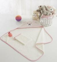 Детское полотенце-уголок Sofi De Marko Fanny с мочалкой, св.роз
