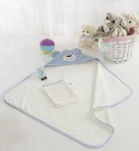 Детское полотенце-уголок Sofi De Marko Fanny с мочалкой, голуб