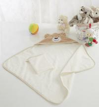 Детское полотенце-уголок Sofi De Marko Fanny с мочалкой, беж