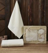Набор из 2-х полотенец Sofi De Marko Amanda, кремовый
