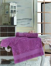 Полотенце Sofi De Marko Anji 70х140 см, грязно-розовое