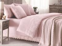 Gelin Home с пледом, Erguvan темно-розовый