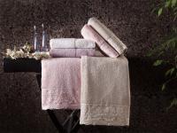 Набор из 2-х полотенец Tivolyo Diamant, кремовый