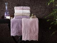 Набор из 2-х полотенец Tivolyo Elegant, кремовый