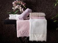 Набор из 2-х полотенец Tivolyo Minosa, кремовый
