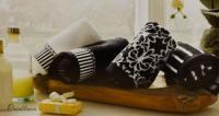Набор из 2-х полотенец Tivolyo Casablanca Flower 2 бордовый