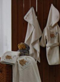 Детский набор из 2-х полотенец Tivolyo Fishy, голубой