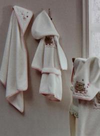 Детский набор из 2-х полотенец Tivolyo Fishy, розовый