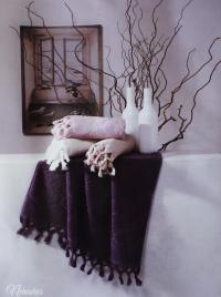 Набор из 2-х полотенец Tivolyo Nervures, фиолетовый