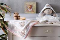 Детский набор из 2-х полотенец Tivolyo Lovely, розовый