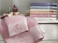 Набор из 2-х полотенец Tivolyo Bamboo, розово-персиковый