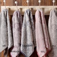 Набор из 2-х полотенец Tivolyo Flavia, грязно-розовый