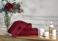 Набор из 3-х полотенец Tivolyo Violetta с диффузором, бордовый