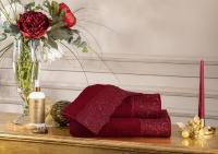 Набор из 3-х полотенец Tivolyo Serena, бордовый