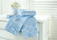 Набор из 3-х полотенец Tivolyo Mirage, синий
