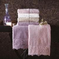 Полотенце Tivolyo Elegant 75х150 см, фиолетовое