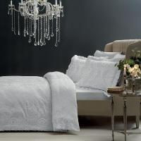 Жаккардовое постельное белье Tivolyo Fausta, серый