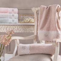 Полотенце Tivolyo Juliet  50х100 см, розовое
