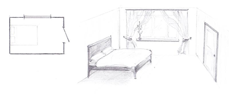Неправильное расположение кровати - изножьем к двери