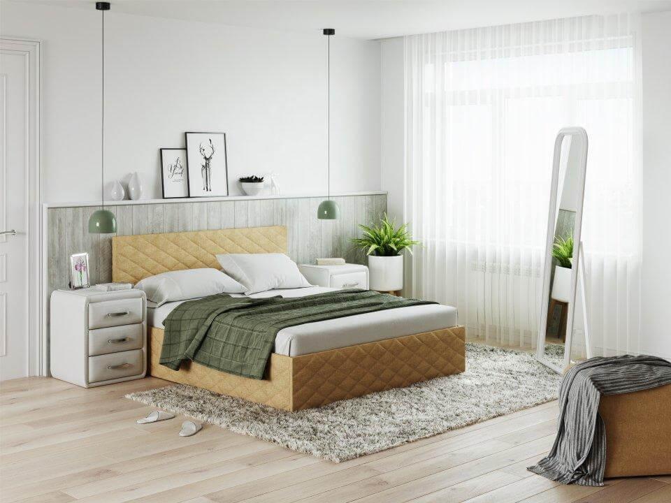 Кровать Quadro (ткань саванна)