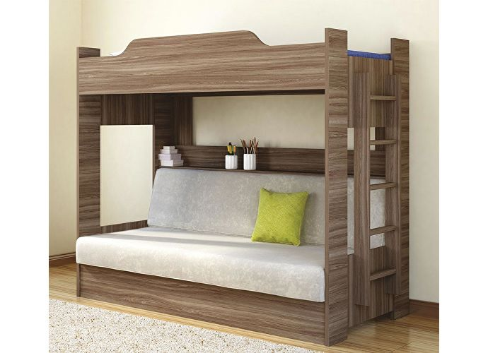 Кровать двухъярусная с диваном (1 кат) Боровичи