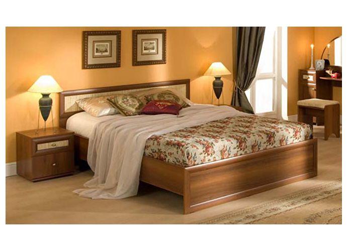 Кровать Глазов Милана 3 с основанием орех (120)