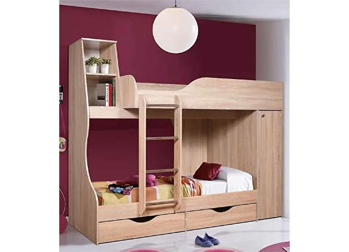 Кровать КМК 05, 0255 двухъярусная (80)