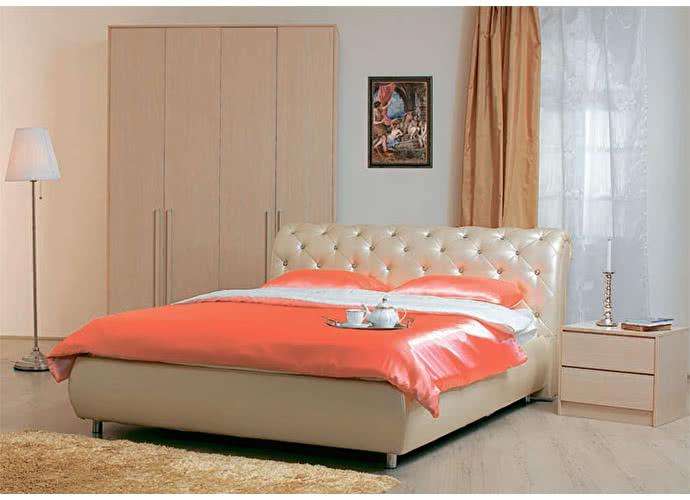 Кровать Сильва Эмили стразы с подъемным механизмом (санни)