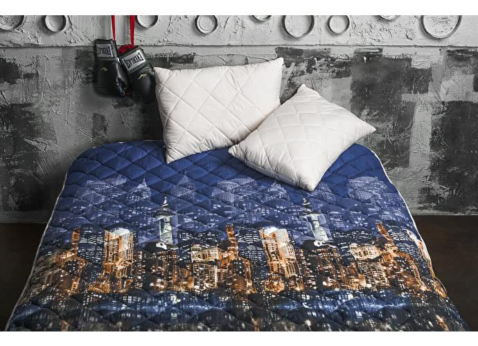 Покрывало Natures Вечерний город с подушкой