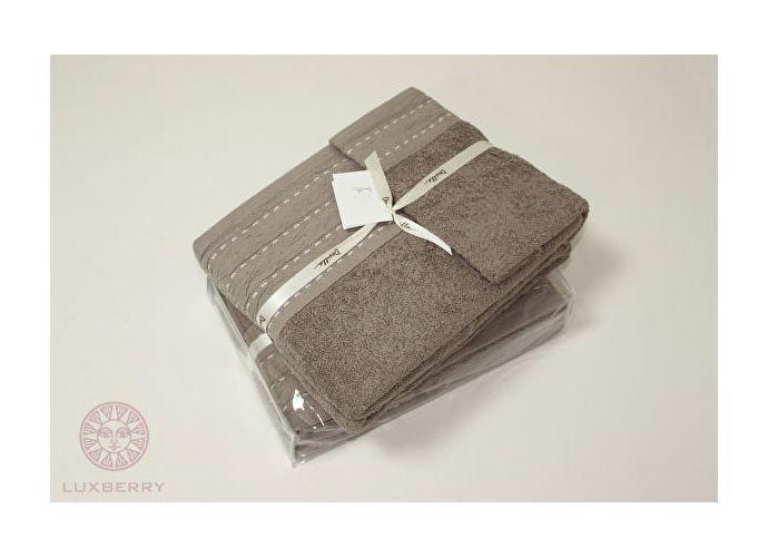 Набор полотенец Luxberry Palma стежок махра, табачный
